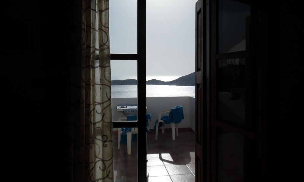 Kalymnos, Moussas studios, utsikt, view, från rum 3, room 3